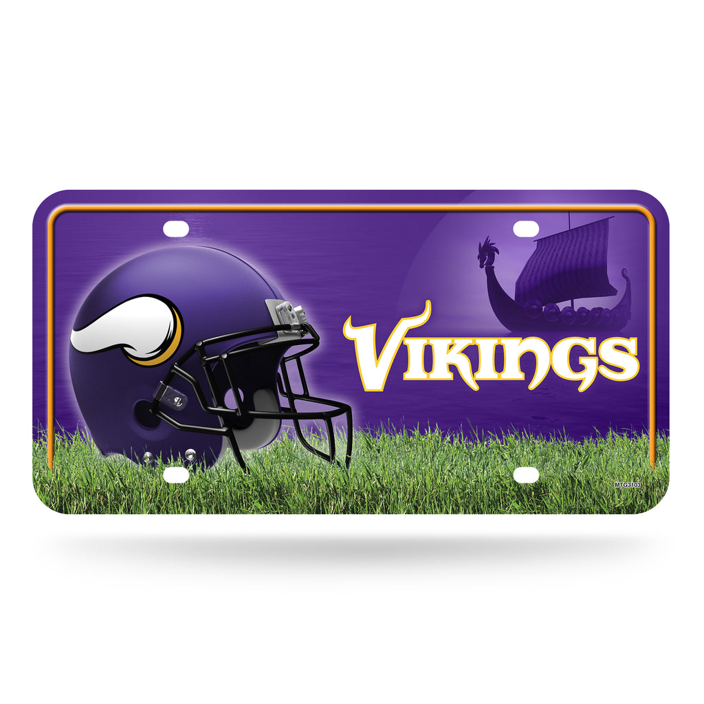 Rico NFL Minnesota Vikings Auto Metal Tag Car License Plate MTG