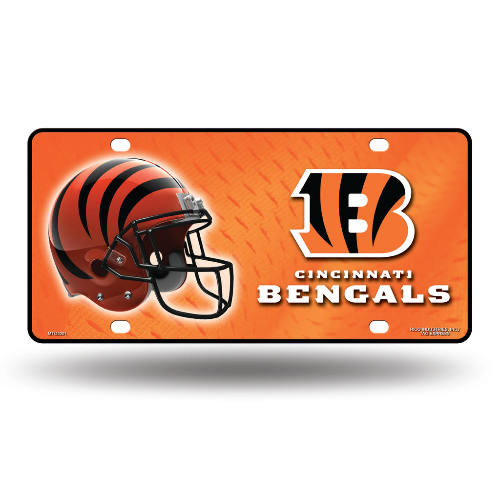 Rico NFL Cincinnati Bengals Auto Metal Tag Car License Plate MTG