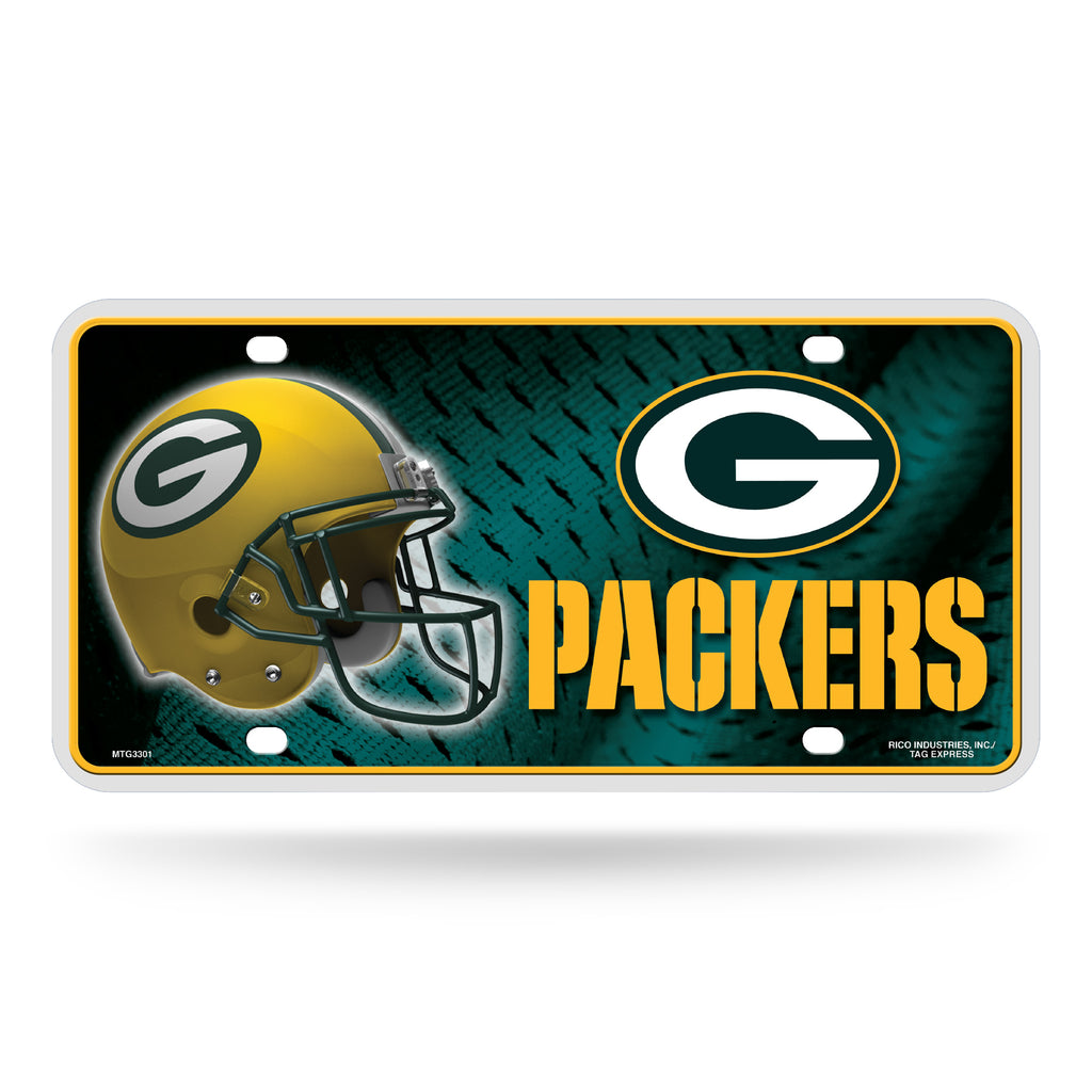 Rico NFL Green Bay Packers Auto Metal Tag Car License Plate MTG