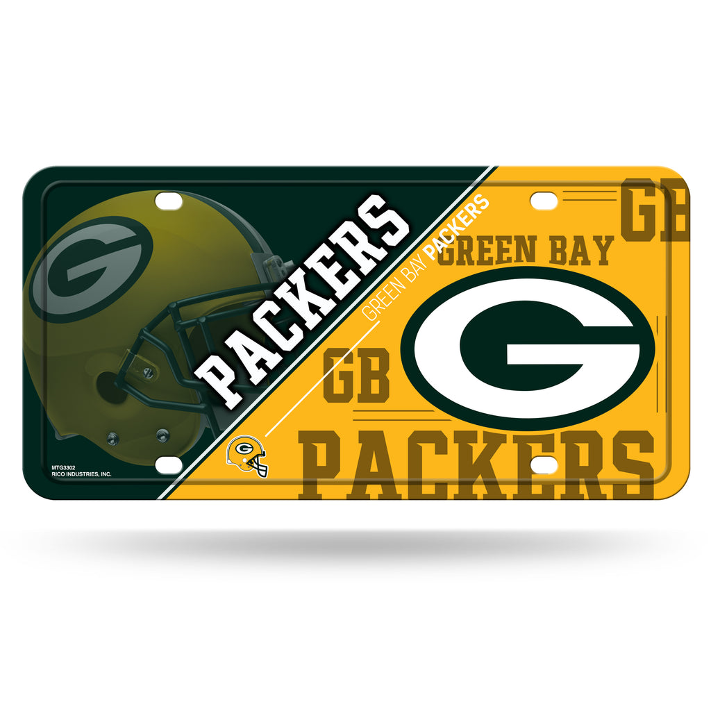 Rico NFL Green Bay Packers Auto Metal Tag Car License Plate MTG02