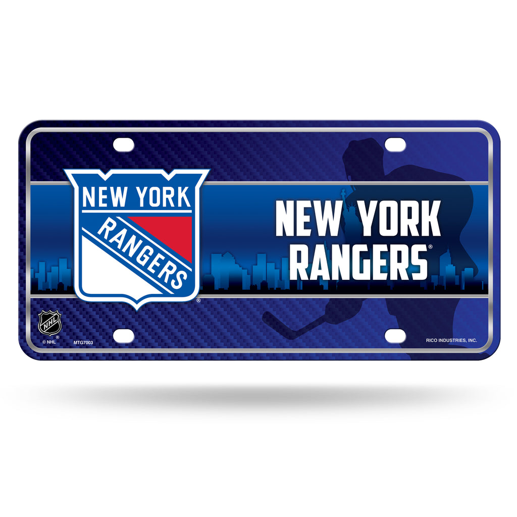 Rico NHL New York rangers Auto Metal Tag Car License Plate MTG