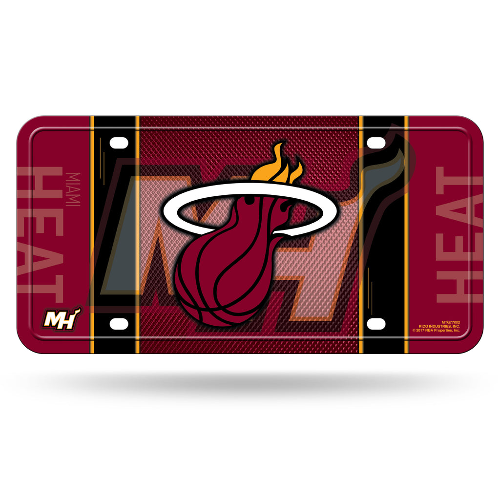 Rico NBA Miami Heat Auto Metal Tag Car License Plate MTG02