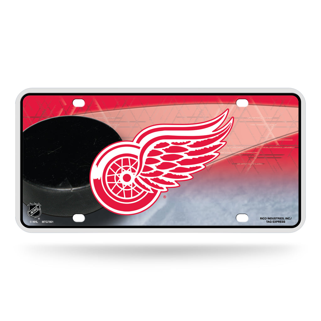 Rico NHL Detroit Red Wings Auto Metal Tag Car License Plate MTG