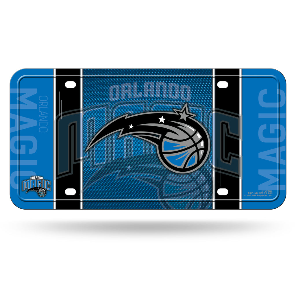classic fit d34c9 b5c2c Rico NBA Orlando Magic Auto Metal Tag Car License Plate MTG03