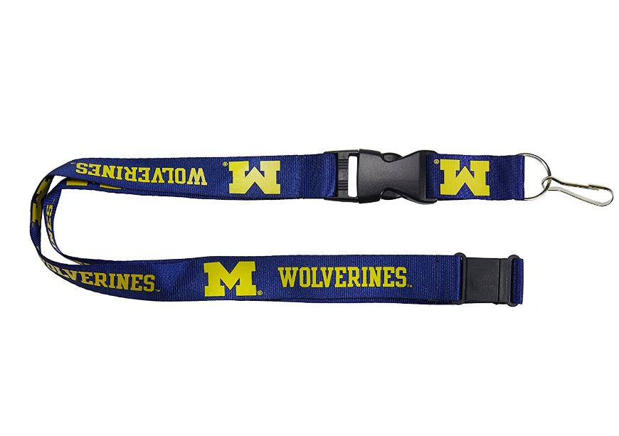 Aminco NCAA Michigan Wolverines Breakaway Lanyard Navy