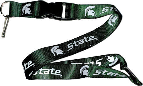 Aminco NCAA Michigan State Spartans Breakaway Lanyard Green