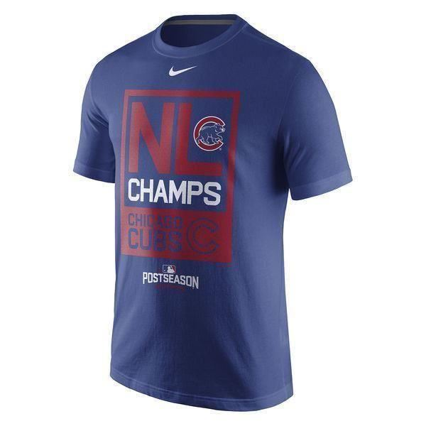 Nike MLB Men's Chicago Cubs 2016 National League Champs T-Shirt
