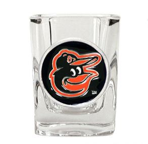 Great American Products MLB Baltimore Orioles Metal Emblem Square Shot Glass 2oz