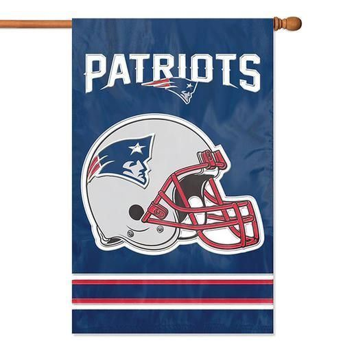 "Party Animal NFL New England Patriots House Banner Flag Blue  28"" x 44"""