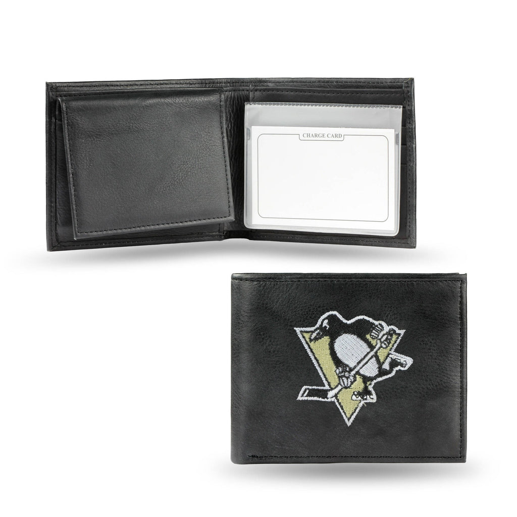 Rico NHL Pittsburgh Penguins  Embroidered Billfold Genuine Leather Wallet