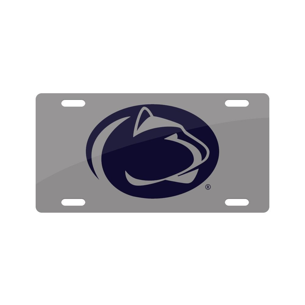Jay Mac Sports NCAA Penn State Nittany Lions Metal License Plate Silver