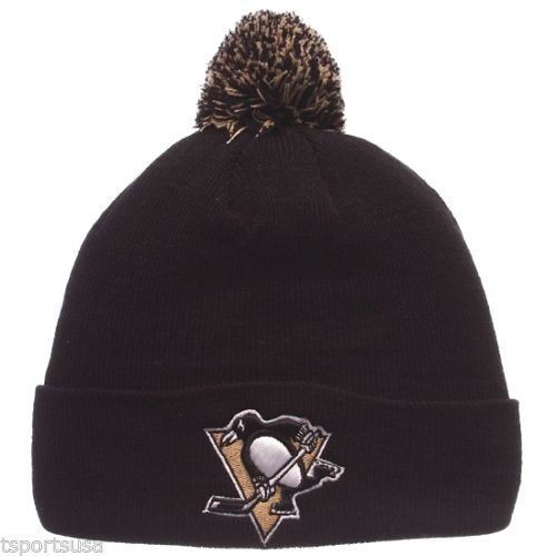 Zephyr NHL Men's Pittsburgh Penguins POM Knit Beanie