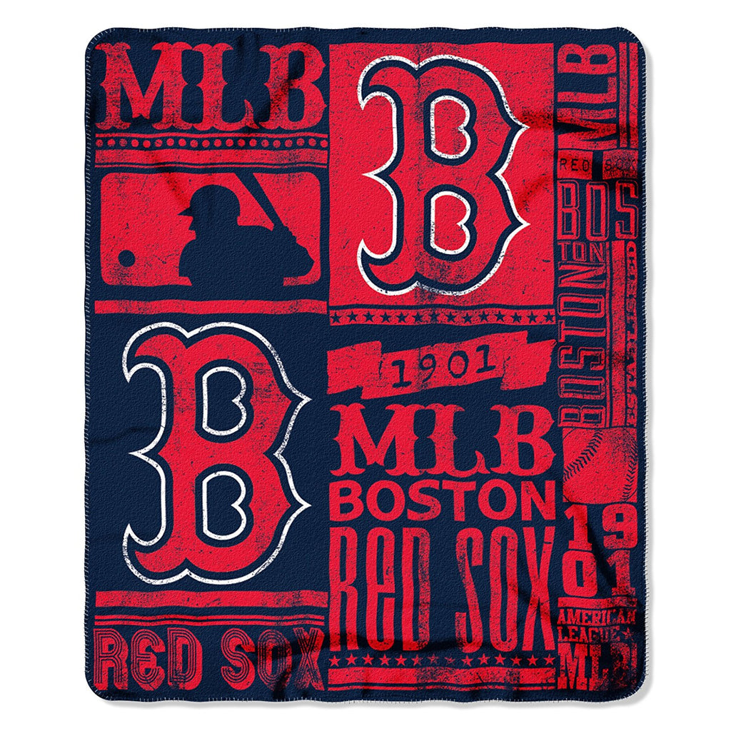 The Northwest Company MLB Boston Red Sox Marque Printed Fleece Throw Red/Navy