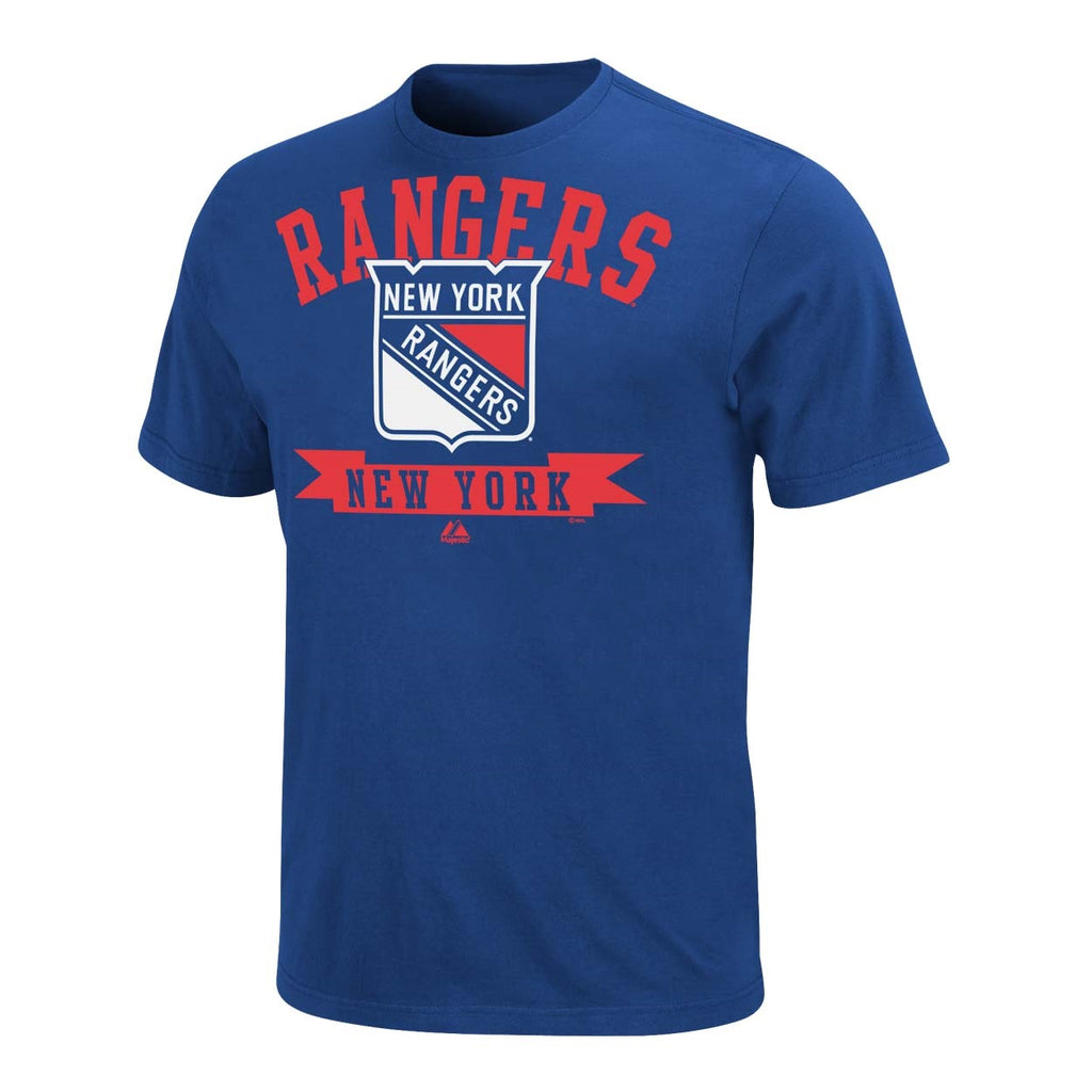 Majestic NHL Men's New York Rangers Tape To Tape T-Shirt
