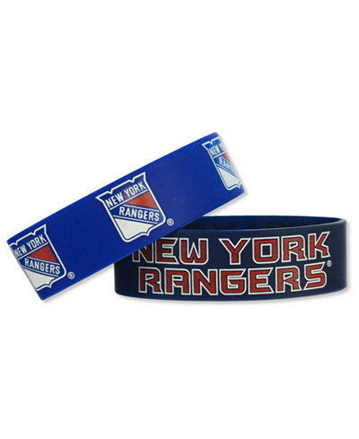 Aminco NHL New York Rangers 2 Pack Wide Silicone Bracelets