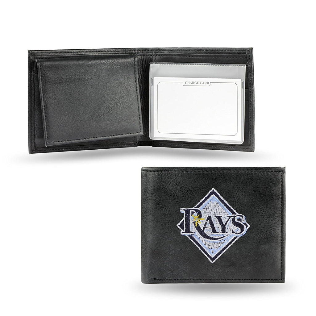 Rico MLB Tampa Bay Rays Embroidered Billfold Genuine Leather Wallet