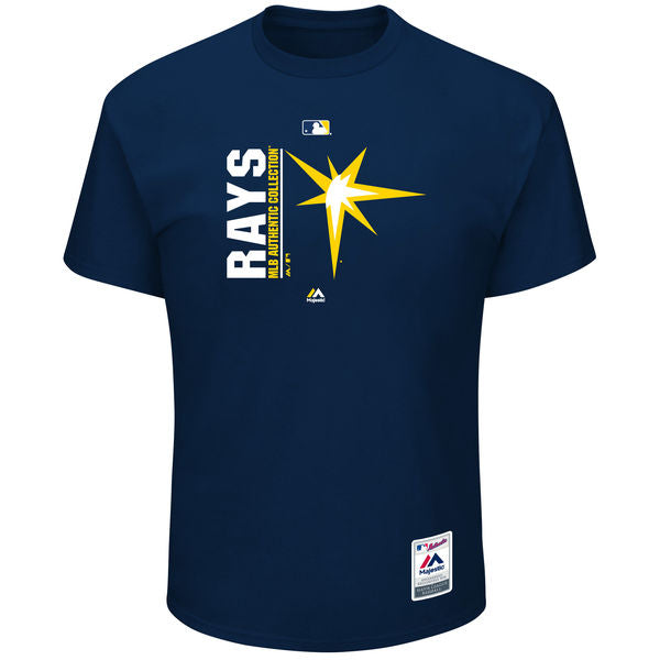 Majestic MLB Men's Tampa Bay Rays Team Icon T-Shirt