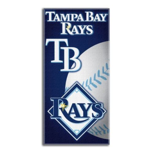The Northwest Company MLB Tampa Bay Rays Emblem Beach Towel