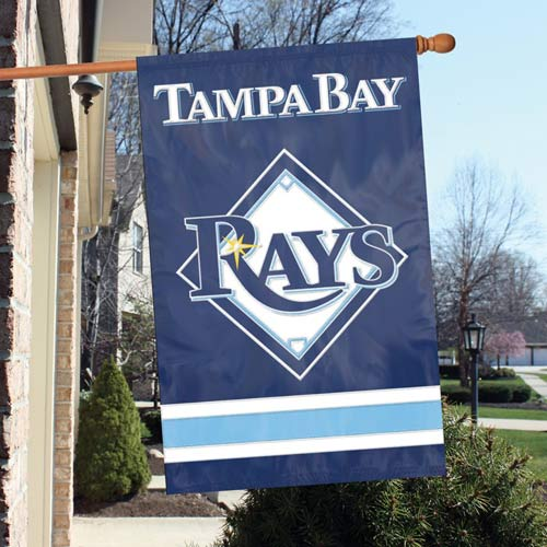 "Party Animal MLB Tampa Bay Rays 28"" x 44"" House Banner Flag"