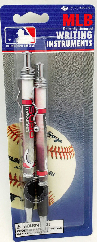 National Design Cincinnati Reds 2 Pack Jazz Pen on Blistercard Team Colors