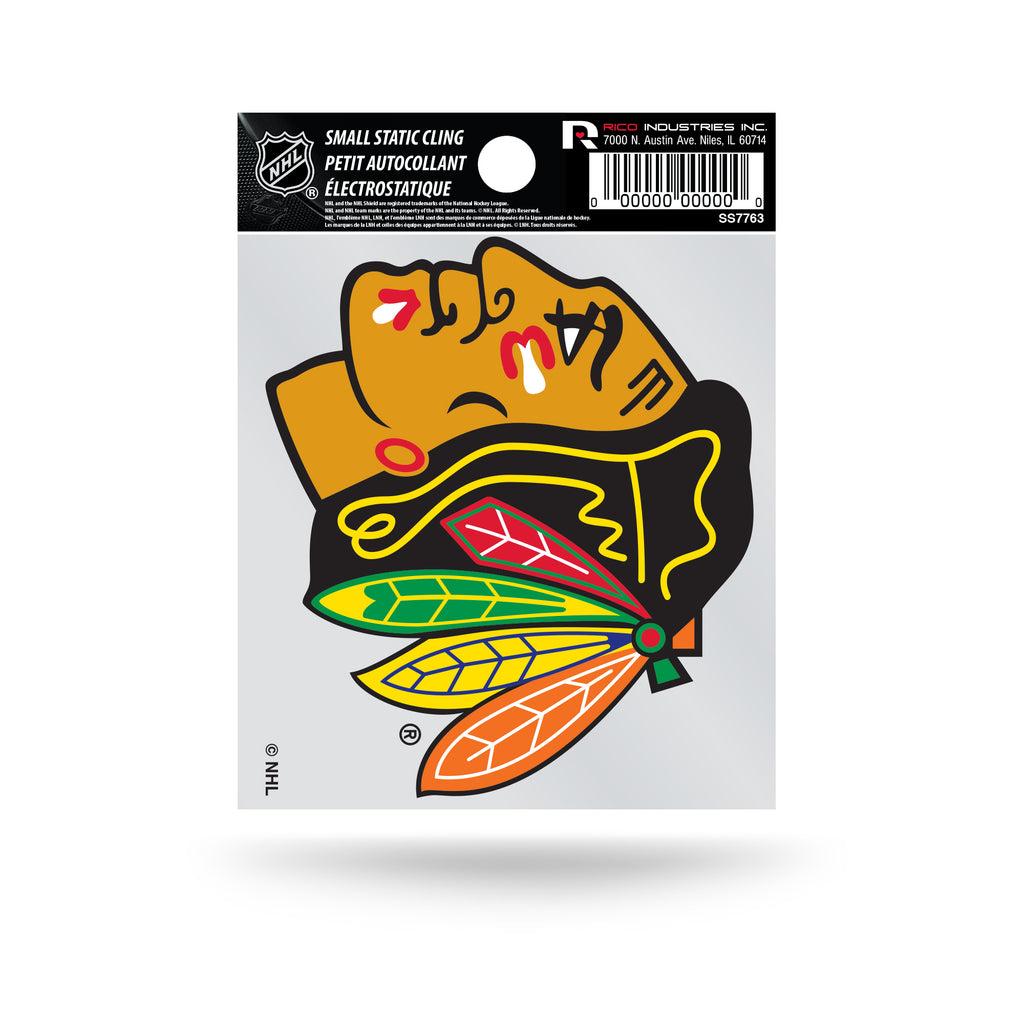 Rico NHL Chicago Blackhawks Logo Static Cling Auto Decal Car Sticker Small SS