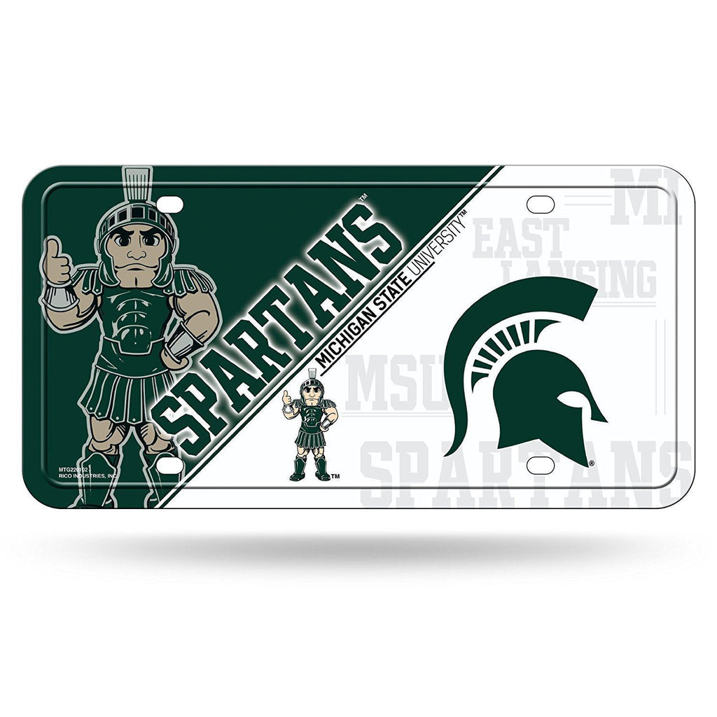Rico NCAA Michigan State Spartans Auto Metal Tag Car License Plate MTG