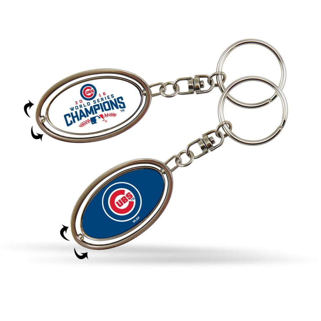Rico Industries MLB Chicago Cubs 2016 World Series Champions Key Ring Spinner