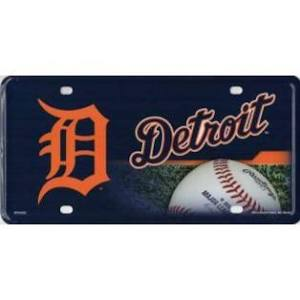 Rico MLB Detroit Tigers Auto Metal Tag Car License Plate MTG