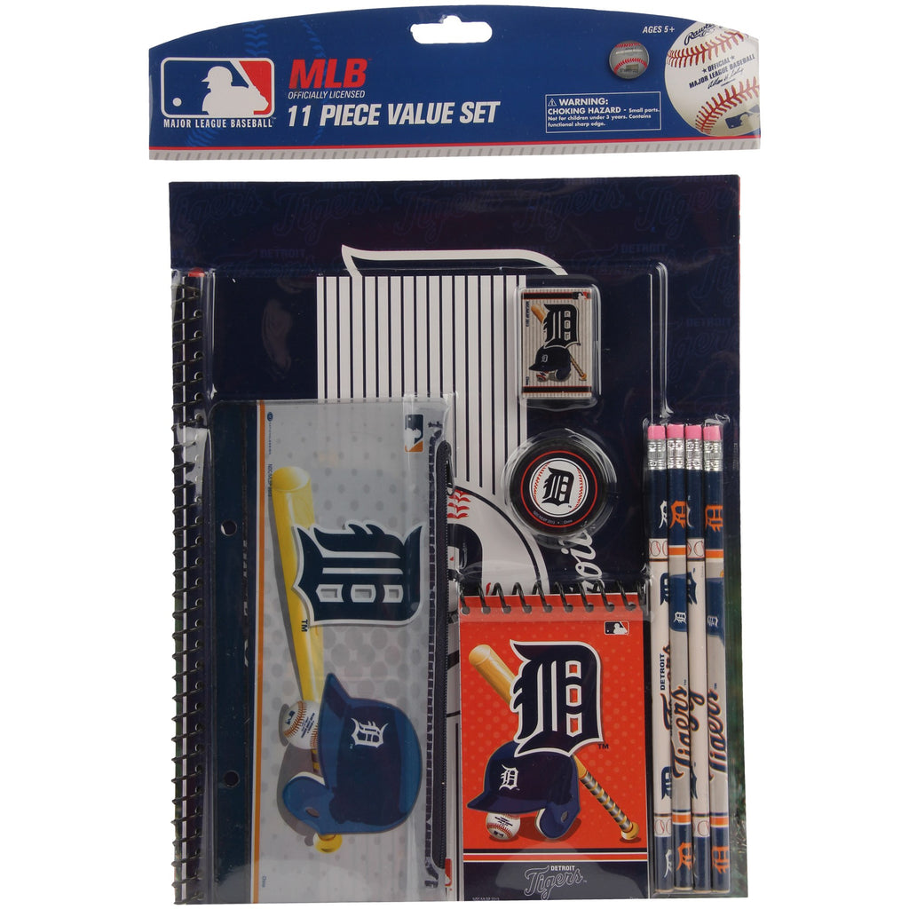 National Design MLB Detroit Tigers 11-Piece Stationery Set