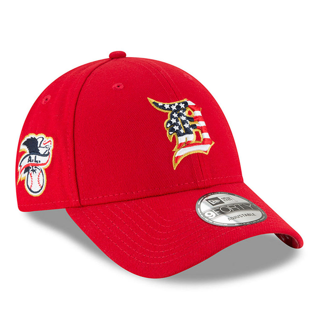 New Era MLB Men's Detroit Tigers Stars And Stripes 4th Of July 9FORTY Adjustable Hat