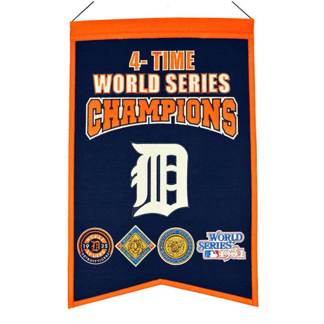 "Winning Streak MLB Detroit Tigers World Series Champions Banner 14""x22"""