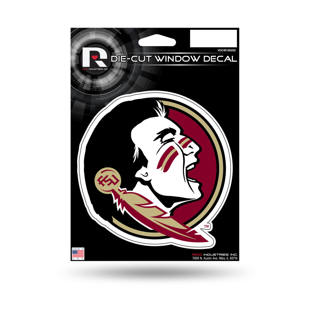 Rico NCAA Florida State Seminoles Die Cut Auto Decal Car Sticker Medium VDCM