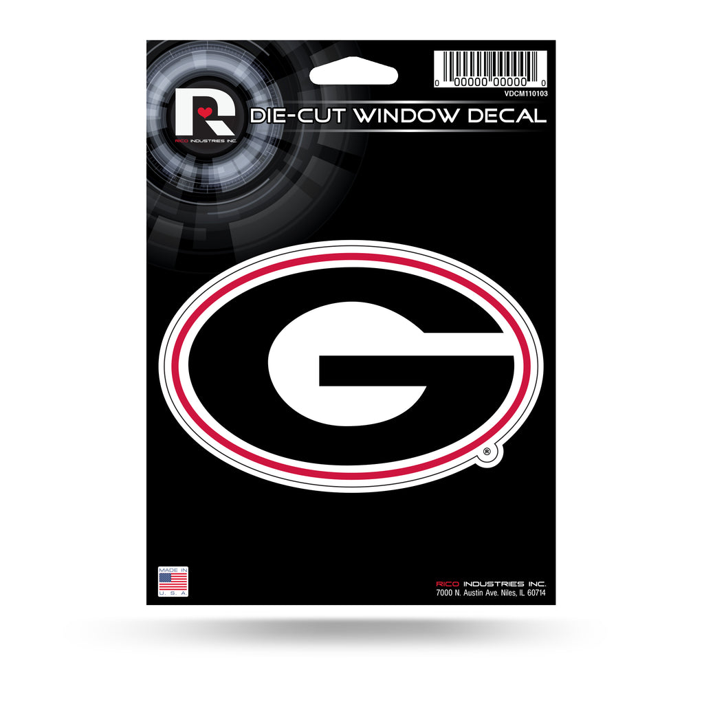 Rico NCAA Georgia Bulldogs Die Cut Auto Decal Car Sticker Medium VDCM