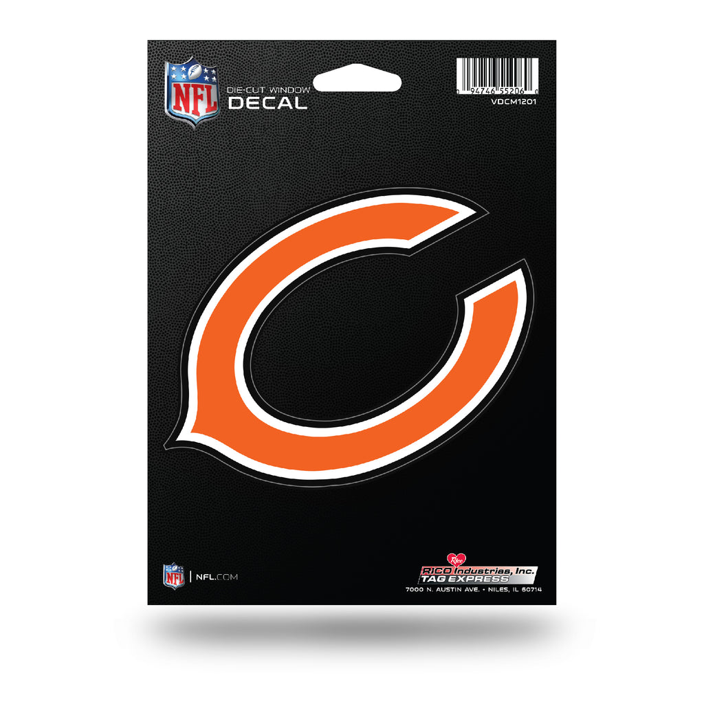 Rico NFL Chicago Bears Die Cut Auto Decal Car Sticker Medium VDCM