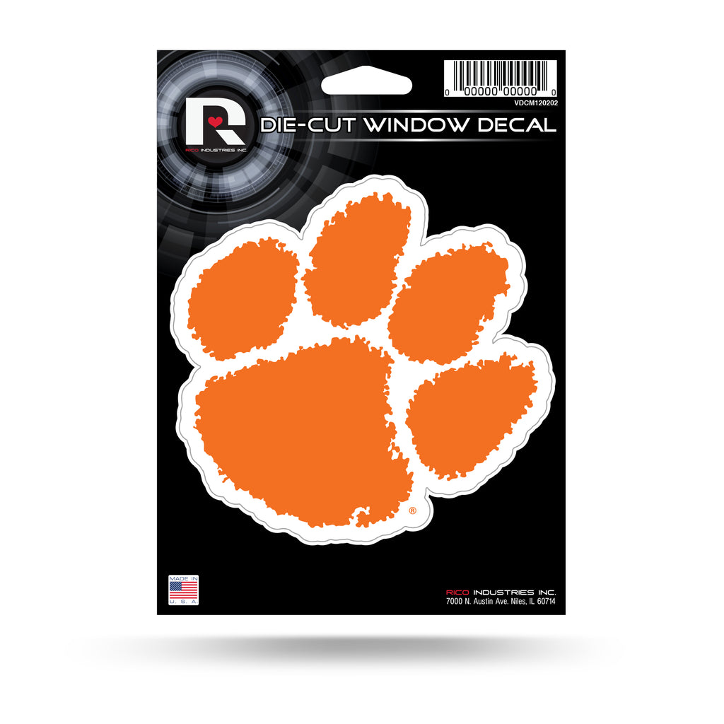 Rico NCAA Clemson Tigers Die Cut Auto Decal Car Sticker Medium VDCM