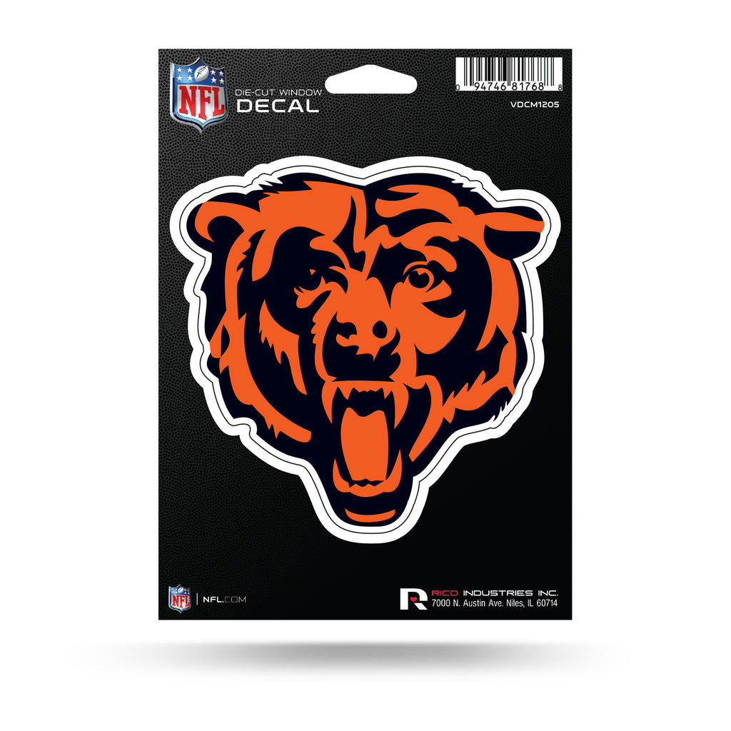 Rico NFL Chicago Bears Medium Decal Bear Logo Auto Sticker VDCM