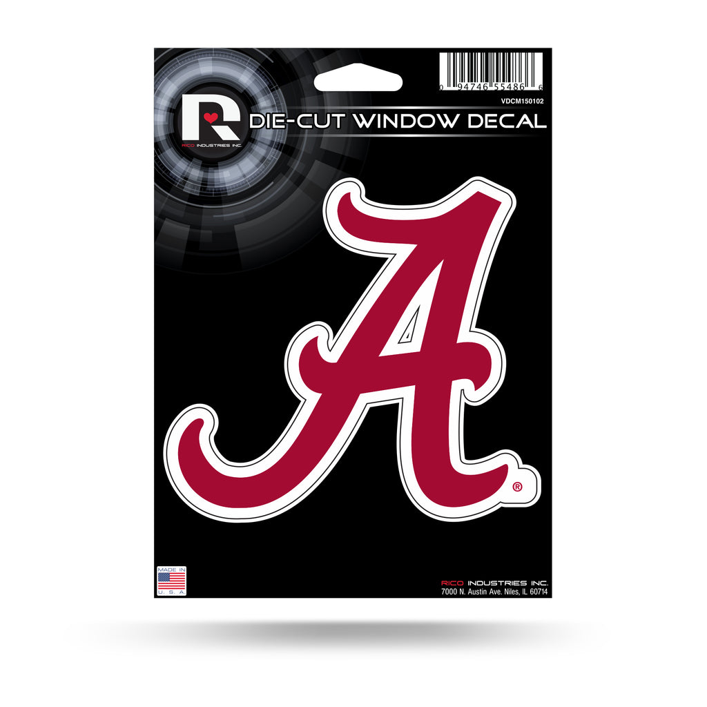 Rico NCAA Alabama Crimson Tide Die Cut Auto Decal Car Sticker Medium VDCM