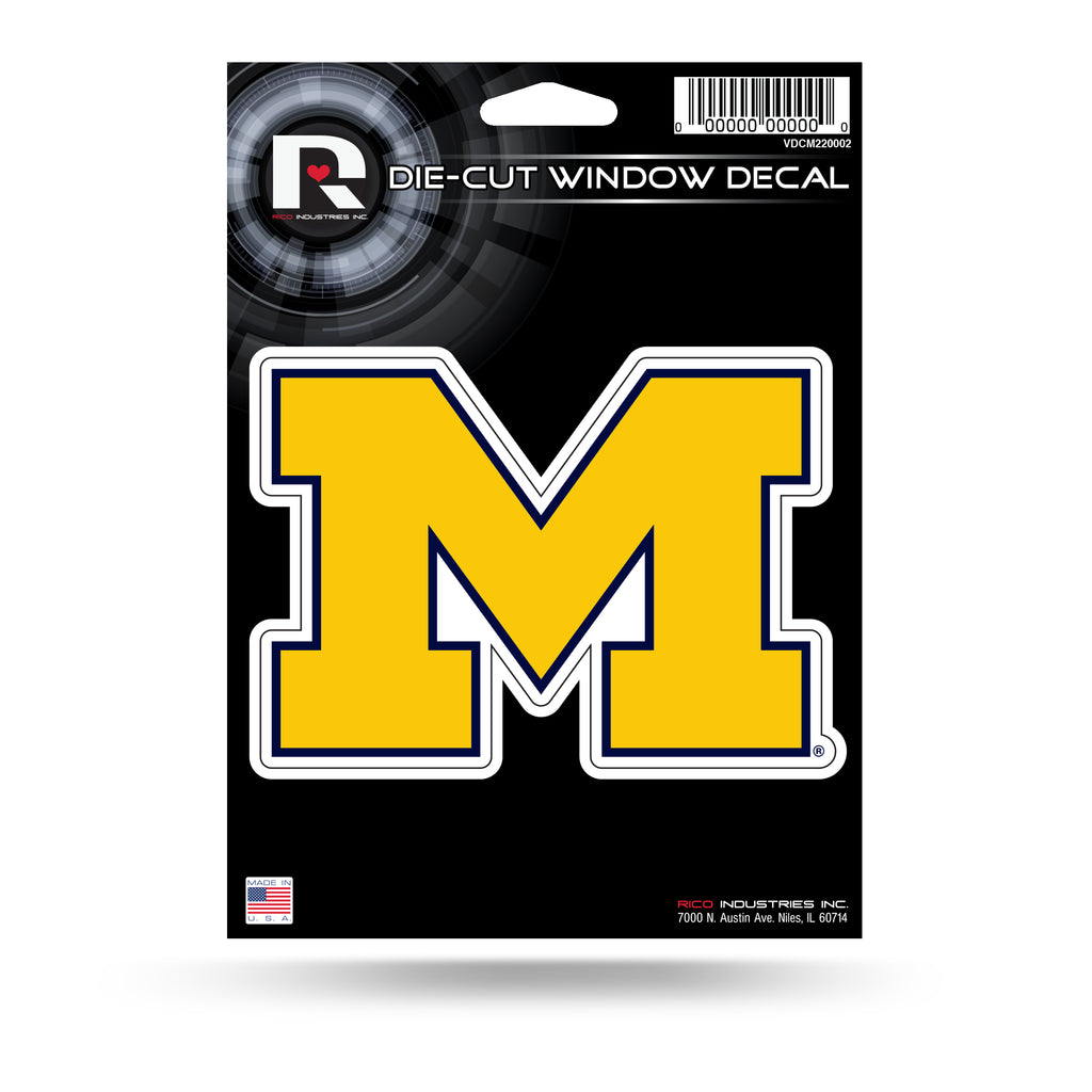 Rico NCAA Michigan Wolverines Die Cut Auto Decal Car Sticker Medium VDCM