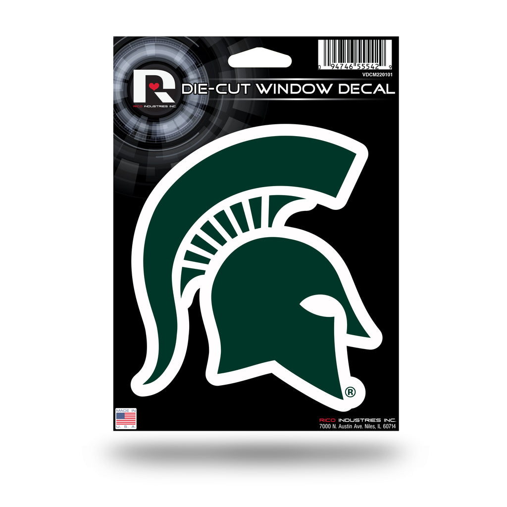 Rico NCAA Michigan State Spartans Die Cut Auto Decal Car Sticker Medium VDCM