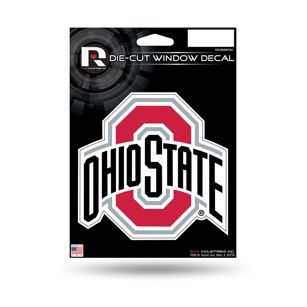 Rico NCAA Ohio State Buckeyes Die Cut Auto Decal Car Sticker Medium VDCM