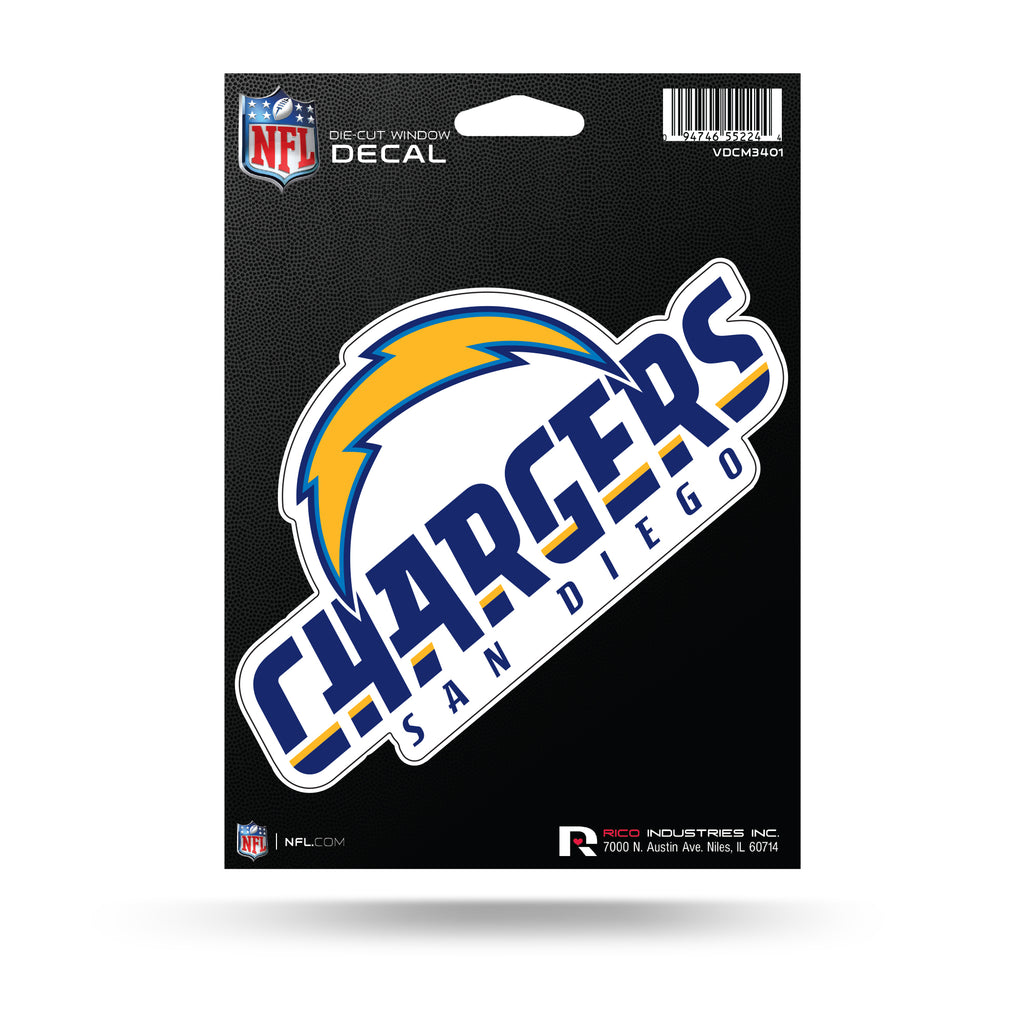 Rico NFL San Diego Chargers Die Cut Auto Decal Car Sticker Medium VDCM