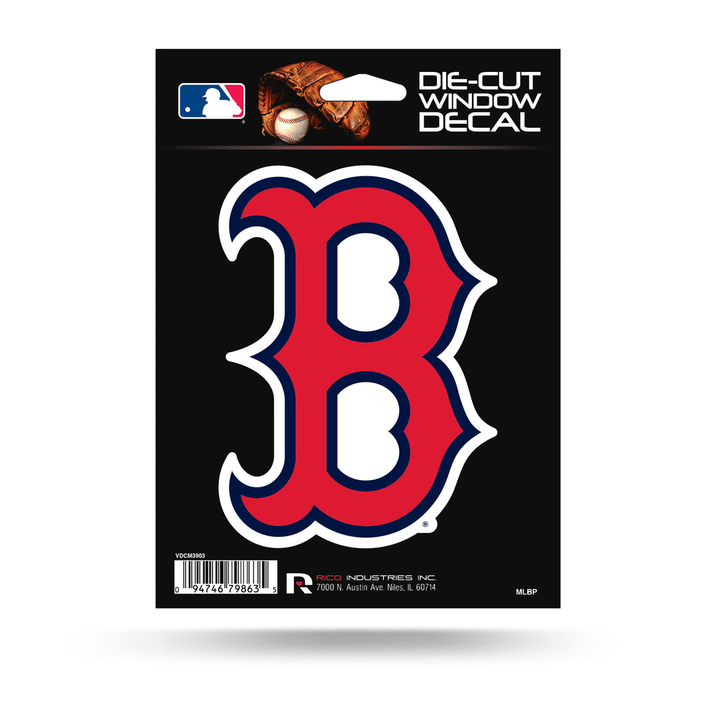 Rico MLB Boston Red Sox B Logo Die Cut Auto Decal Car Sticker Medium VDCM