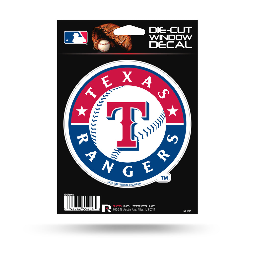 Rico MLB Texas Rangers Die Cut Auto Decal Car Sticker Medium VDCM