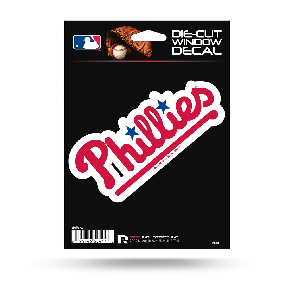 Rico MLB Philadelphia Phillies Die Cut Auto Decal Car Sticker Medium VDCM