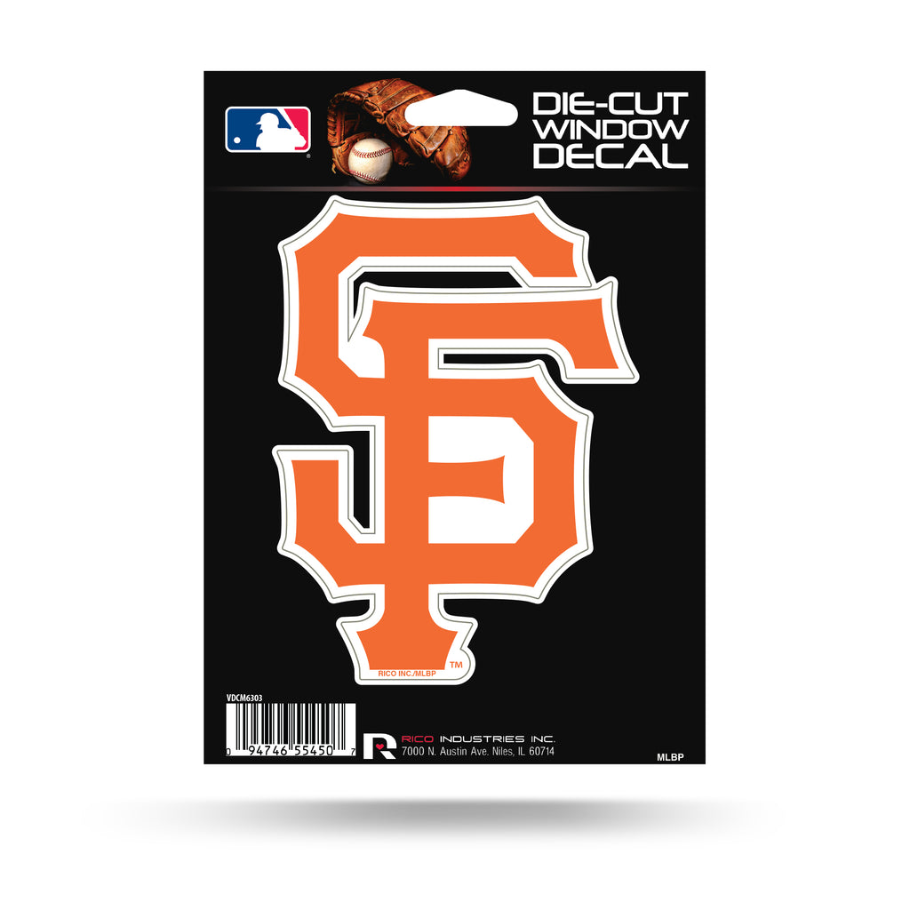 Rico MLB San Francisco Giants Die Cut Auto Decal Car Sticker Medium VDCM