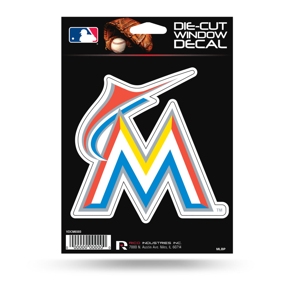 Rico MLB Miami Marlins Die Cut Auto Decal Car Sticker Medium VDCM03
