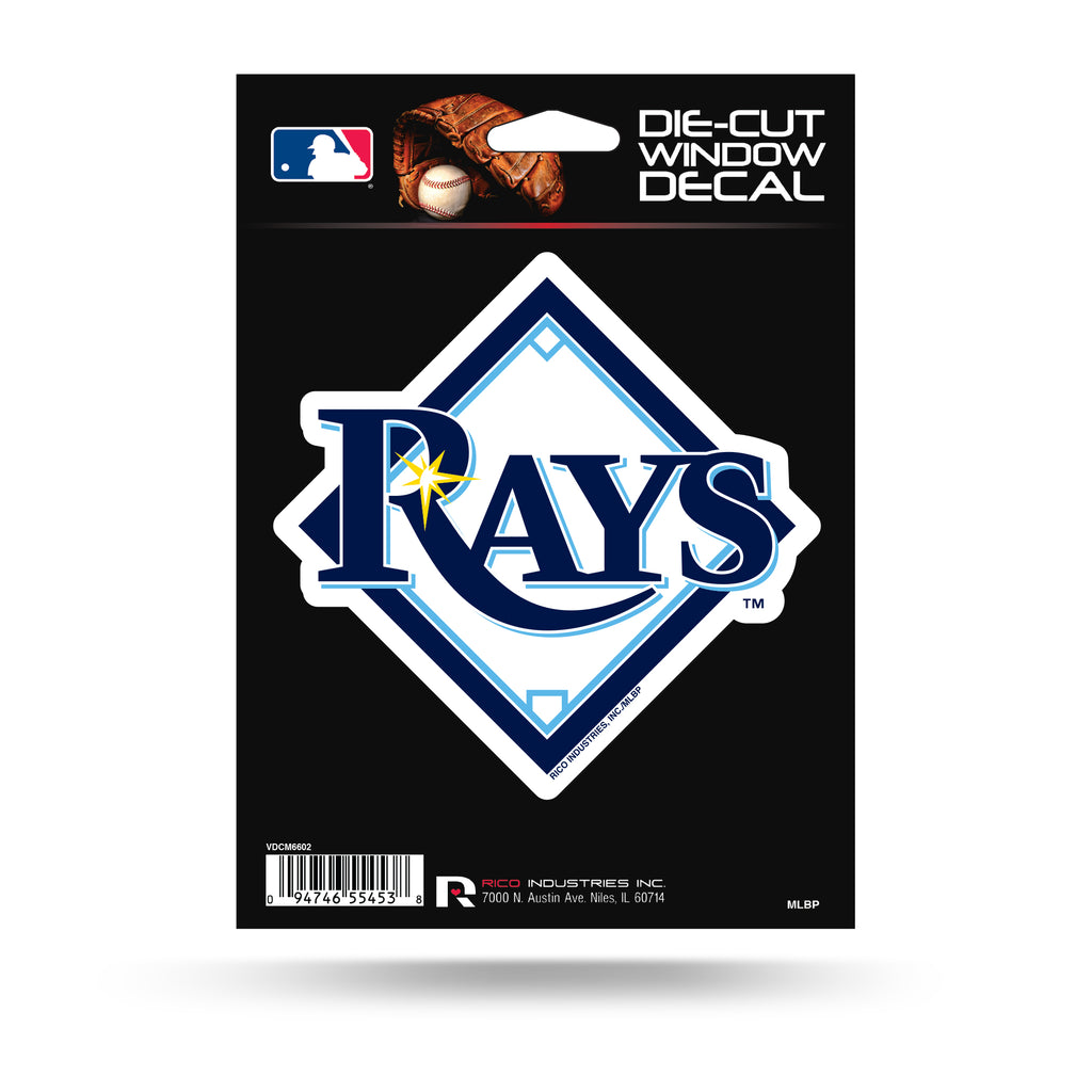 Rico MLB Tampa Bay Rays Die Cut Auto Decal Car Sticker Medium VDCM
