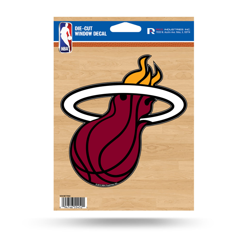 Rico NBA Miami Heat Die Cut Auto Decal Car Sticker Medium VDCM