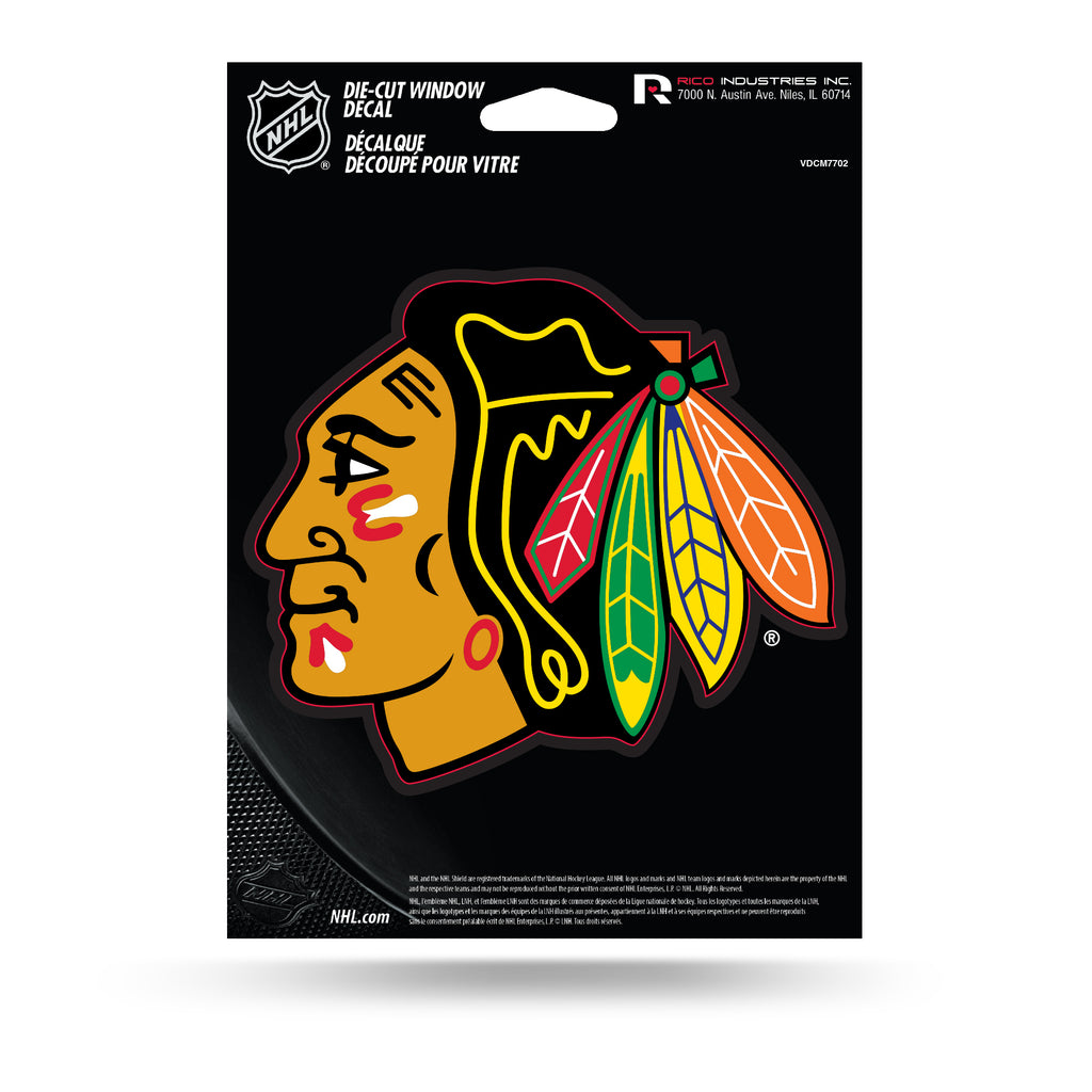Rico NHL Chicago Blackhawks Die Cut Auto Decal Car Sticker Medium VDCM