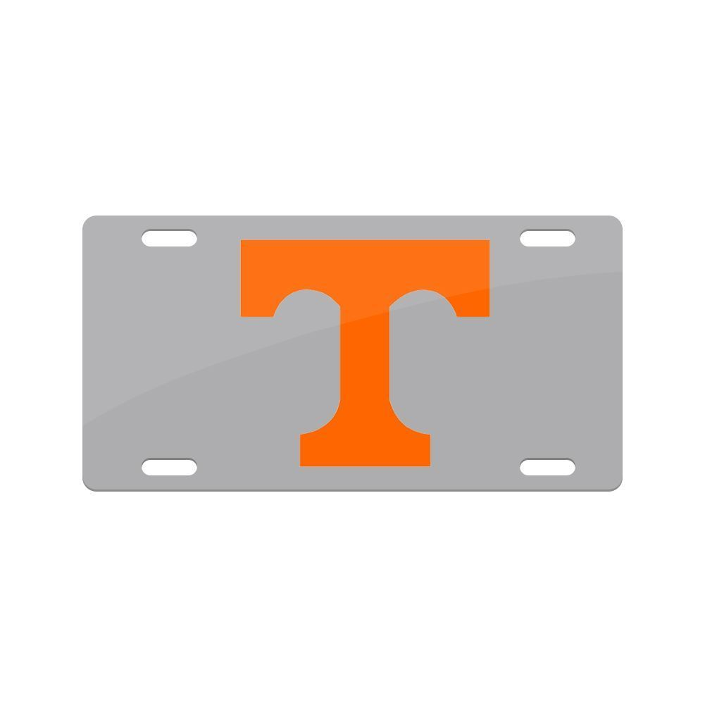 Jay Mac Sports NCAA Tennessee Volunteers Metal License Plate Gray
